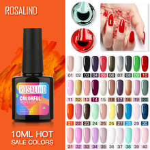 Rosalind Gel Nail Polish 10 Ml untuk Nail Art Manicure Set Hybrid Pernis Perlu Base Top Coat Semi Permanen UV LED Nail Lacquer(China)