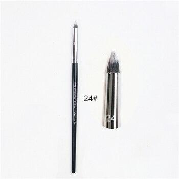 Smoked Eye liner Professional 24 Black Long Handle smoked Eye Liner Lip Makeup brush Professional Smoked Cosmetic brush tool 1pc professional eye brush 6pcs