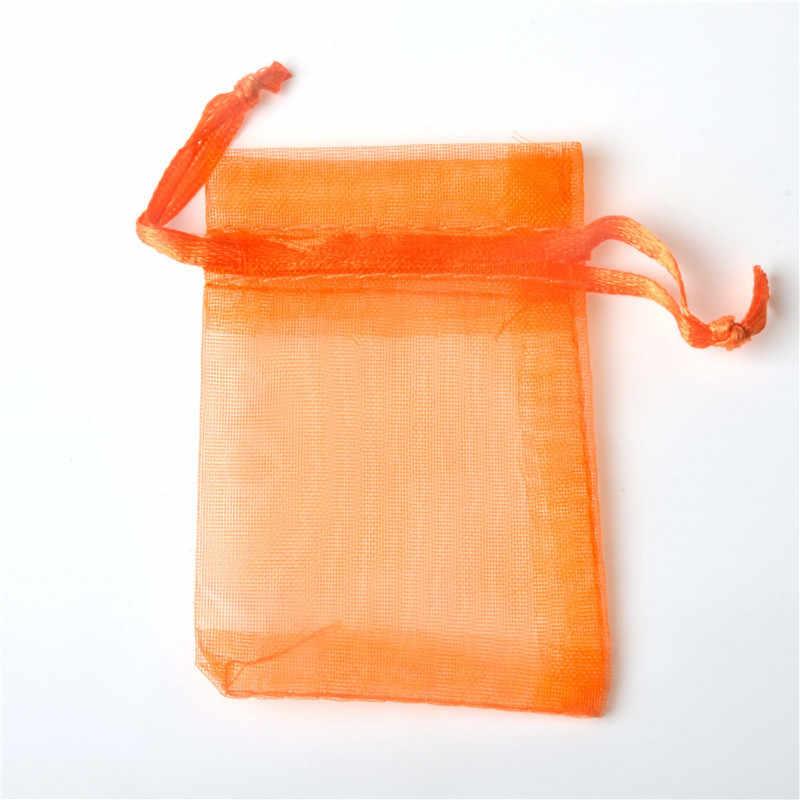 10pcs 7x9cm Organza ของขวัญถุงเครื่องประดับบรรจุภัณฑ์ Candy คริสต์มาสฮาโลวีนงานแต่งงาน Goodie บรรจุ Favors เค้กขนมกระเป๋า