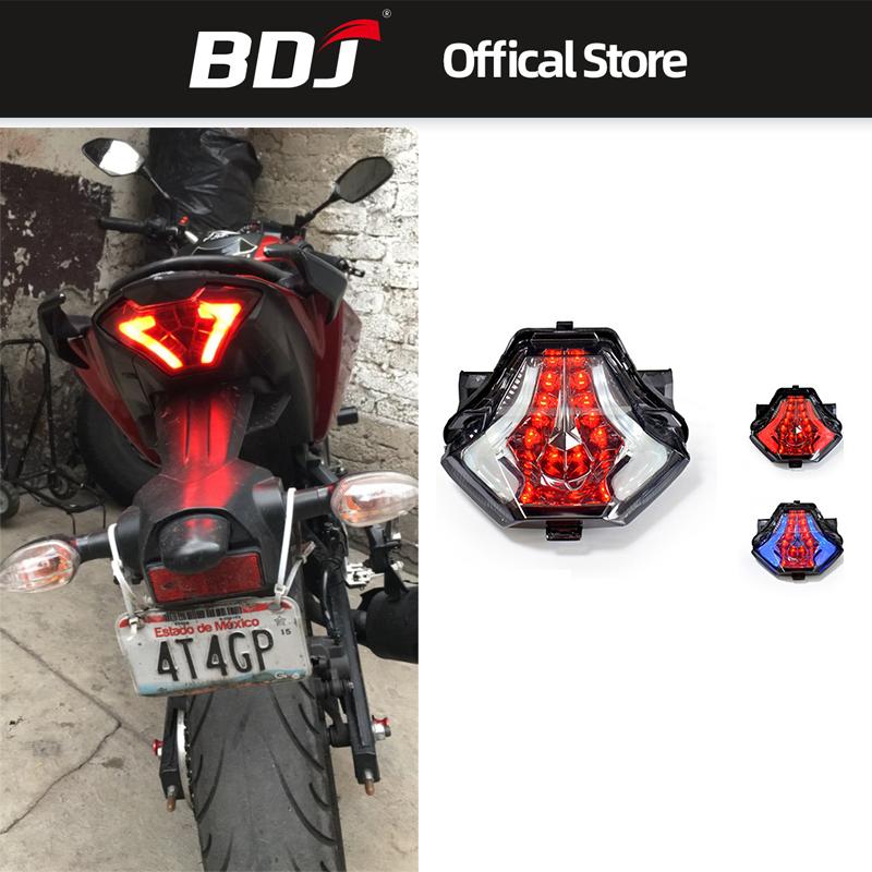 BDJ Motorcycle Taillight Rear Tail Light Brake Turn Signals Integrated LED For Yamaha R25 R3 MT03 MT07