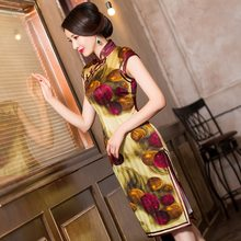 2019 Limited High Vestido De Debutante Spring/summer Brand New Qipao Dress Cheongsam Silk Wholesale Restoring Ancient Ways(China)