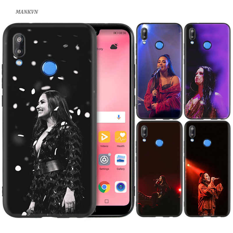 Black Silicone Case Cover for Huawei P30 P20 P10 P9 Mate 10 20 Lite 2017 Note 5 5i Pro P Smart Plus 2019 Shell demi lovato