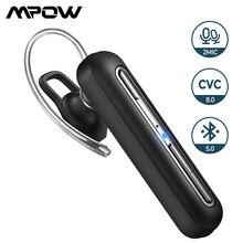 Mpow Zakelijke Draadloze Headset Bluetooth Oortelefoon Met Dual Mic Handsfree Koptelefoon Met 30 Uur Speeltijd Voor Mobiele Telefoon EM17