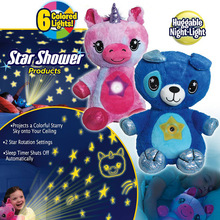 Stuffed Animal With Light Projector In Belly Comforting Toy Plush Toy Night Light Cuddly Puppy Dream Lites Christmas