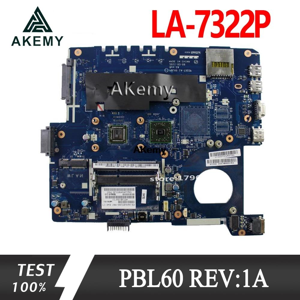 Akemy X53U PBL60 LA-7322P REV:1A Laptop Motherboard For ASUS X53B K53B X53 K53 Test Original Mainboard