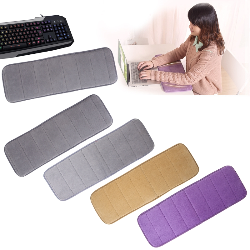 Ultra Soft Elbow Pads Mouse Pad Ultra Memory Cotton Keyboard Pad Sweat-absorbent Anti-slip For Office Desktop