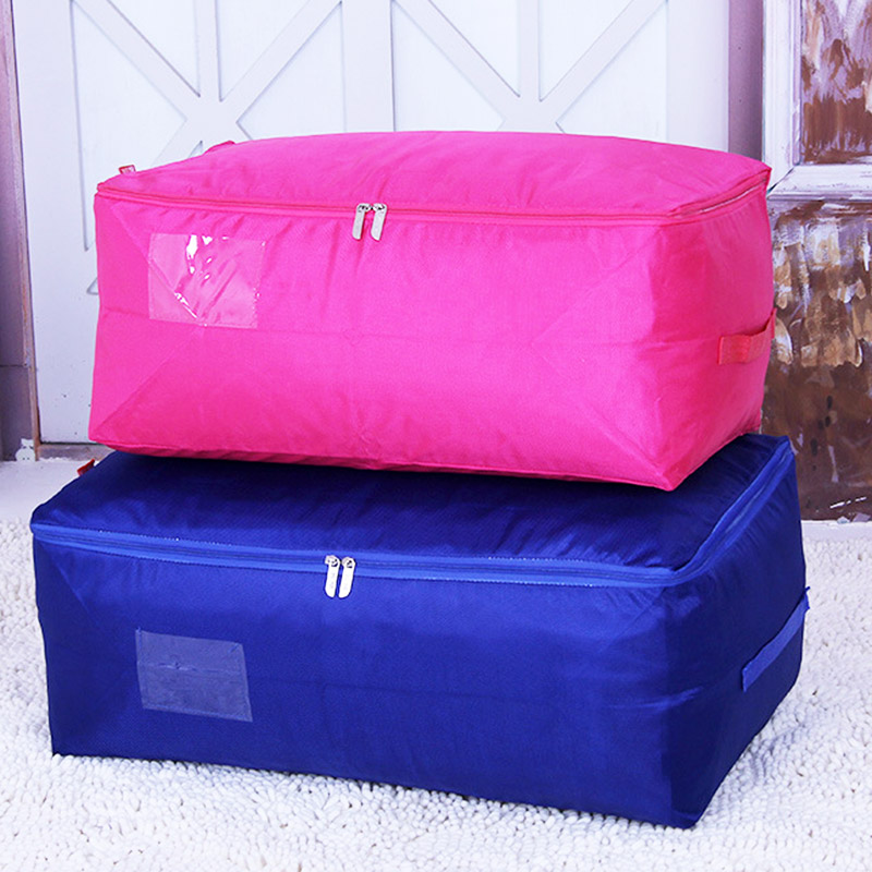 Waterproof Closet Organizer Zip Lock Plastic Bags Wardrobe Storage Bag Quilt Travel Clothes Storage Zip Lock Organizer Bag Stori