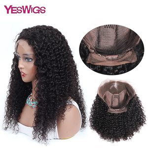 Image 4 - Kinky Curly Wigs For Women 13X4 Malaysian Curly Human Hair Wigs 130% Density YESWIGS HAIR Brown Lace Front Wig Natural Hair