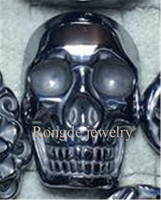 Chinese Natural terahertz Carved Lucky skull Pendants + Rope Necklace Fine Jade Pendant wholesales