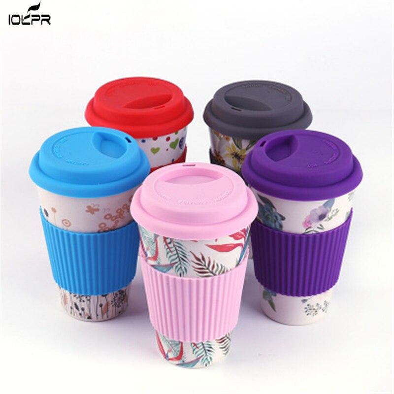 Mugs Reusable Bamboo Fiber Coffee Insulation Travel Mug 400ML Drink Cup  water bottle