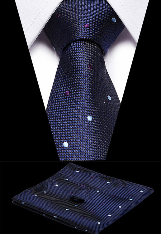 Luxury 7.5cm Men's Classic Tie 100% Silk Jacquard Woven Plaid Striped Cravatta Ties Man Bridegroom Business Necktie Accessories