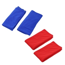 4 Pcs Large Microfibre Towel Sports Bath GYM Quick Dry Travel Swimming Camping Beach, 2 Pcs Red & 2 Pcs Navy Blue