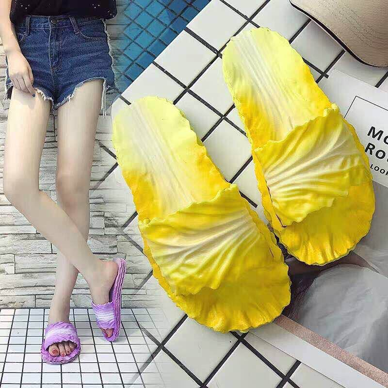 Cabbage Shape Slipper Women's Summer Bathroom Anti-slip Bath Students Fashion House Slippers Creative Shoes Children