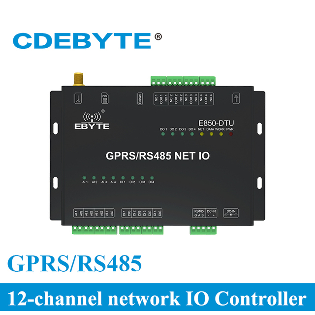E850 DTU (4440 GPRS) przełącznik akwizycji sygnału analogowego Modem GPRS 12 kanał wyjściowy bezprzewodowy nadajnik i odbiornik