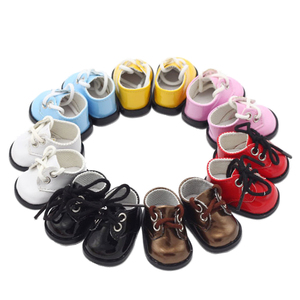 Image 4 - הגעה חדשה 5cm PU נעלי BJD בובת 14 אינץ אופנה מיני בובת נעלי EXO רוסית DIY בעבודת יד בובת אבזרים