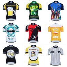 Moxilyn Camiseta de ciclismo para hombre, ropa de ciclismo de montaña, transpirable y absorbente de sudor, secado rápido, amo la cerveza