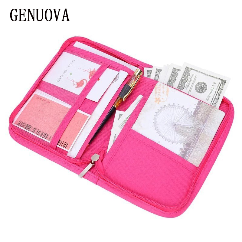 Travel Multi-function Passport Cover Wallet For Tickets Credit Card Holder Purse Women's ID Documents Cash Organizer Package
