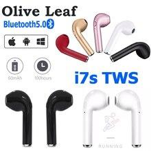 I7s TWS słuchawki bezprzewodowe zestaw słuchawkowy Bluetooth Mini słuchawki sportowe słuchawki douszne w uchu słuchawki do muzyki działa na wszystkich smartfonach telefon