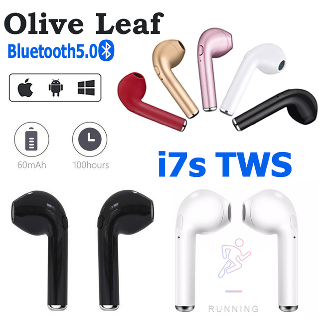 i7s TWS Wireless Headphones Bluetooth Headset Mini Earpieces Sport Earbuds in ear Music Earphones Works on all Smartphones Phone