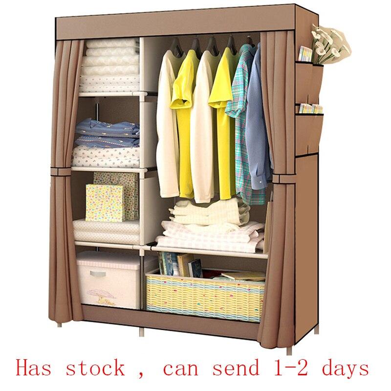 ห้องนอนอเนกประสงค์ผ้าไม่ทอตู้เสื้อผ้าพับแบบพกพาเสื้อผ้าตู้ผ้ากันฝุ่นตู้เสื้อผ้าเฟอร์น...