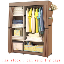 Armario de tela no tejida multiusos para dormitorio, armario de almacenamiento de ropa portátil plegable, paño antipolvo, armario, muebles para el hogar