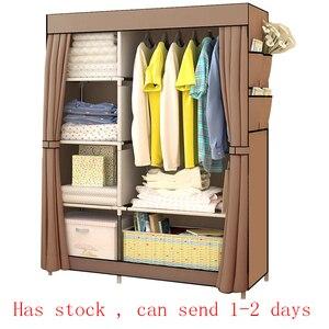 Bedroom Multipurpose Non-woven Cloth Wardrobe Folding Portable Clothing Storage Cabinet Dustproof Cloth Closet Home Furniture(China)