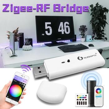 Le pont intelligent Zigbee-RF de Gledopto convertit les signaux RF en signaux Zigbee fonctionnent avec le contrôle vocal de contrôle d'application de téléphone de passerelle de Zigbee