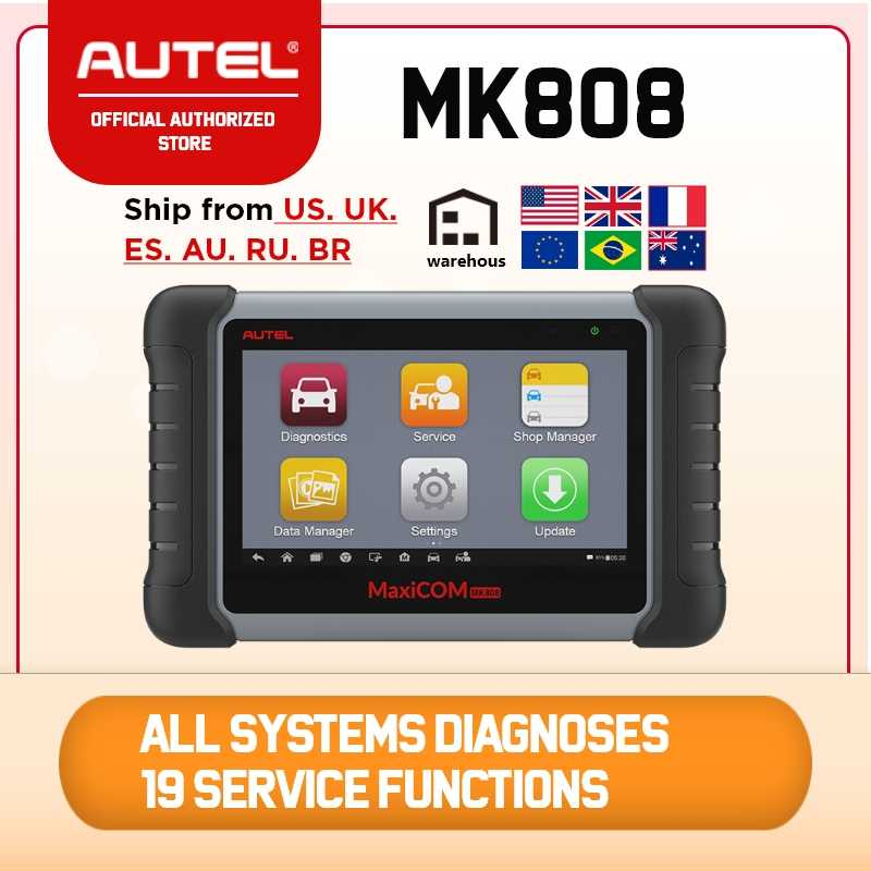 Autel Maxicom MK808 Auto Diagnostic Tool OBD2 Scanner Automotive Volledige Systemen Scan Tool Professionele Auto Key Codering Dpf Tpms