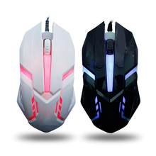 Mouse gamer ergonômico, mouse com fio e led, usb, fotoelétrico, colorido, para pc, mouse