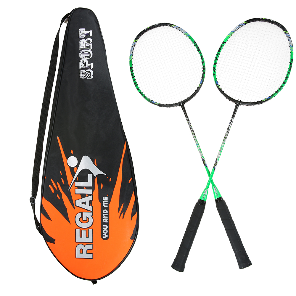 2 Player Ultra Light Carbon Fiber Badminton Racquet With Carry Bag Badminton Bat Replacement Set Sport Equipment  Racket