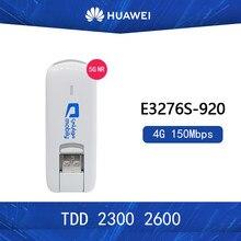 Huawei modem desbloqueado E3276S-920 e3276s 4g lte, modem 150mbps wcdma tdd 2300/2600mhz sem fio, usb dongle