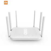 Xiaomi Redmi AC2100-Bezprzewodowy router Dual-Band WiFi gigabit 2 4 G 5 0 GHz 2033 Mbps wzmacniacz sygnału wifi z 6 antenami o dużym zysku tanie tanio CN (pochodzenie) wireless Wi-fi 802 11g Firewall 28MB 128MB 2 4GHz and 5GH xiaomi Router