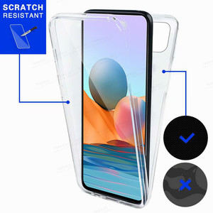 Image 3 - 360° Front Back Transparent Case For Xiaomi Redmi Note 10 Pro 10s Xiomi Redme Nota 9 8 T 8T 9T 7A 7 9A Phone Cover Protect Coque