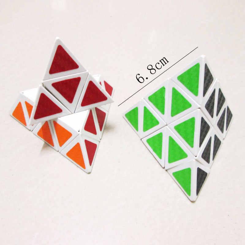 新 3*3*3 ピラミッドスピードマジックキューブ 68*68*68 ミリメートルプロのマジックキューブパズルカラフルな教育玩具子供のため