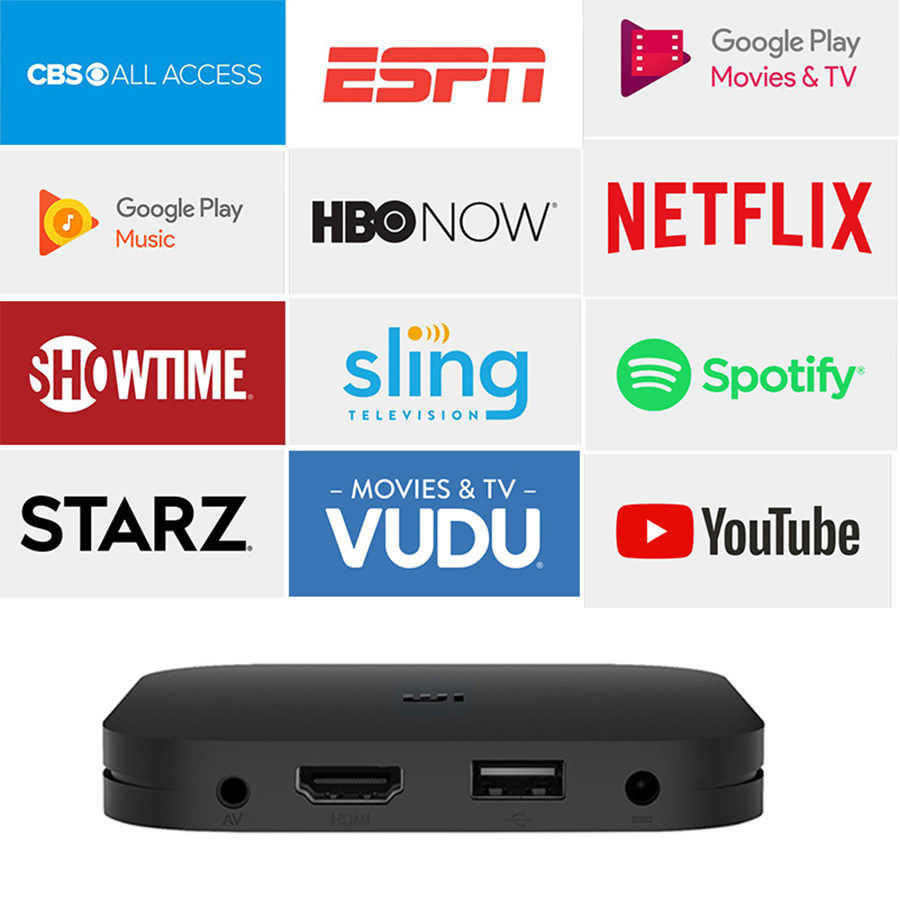 Xiao mi mi caixa de tv android 4 k hdr tv android 8.1 ultra hd 2g 8g wifi google elenco netflix iptv conjunto caixa superior 4 media player