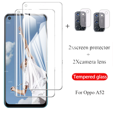 4 IN 1 On orro opo a52 Protective Tempered Glass for OPPO A52 Screen Protector for oppo a52 Camera Lens Film 6.52'' protection
