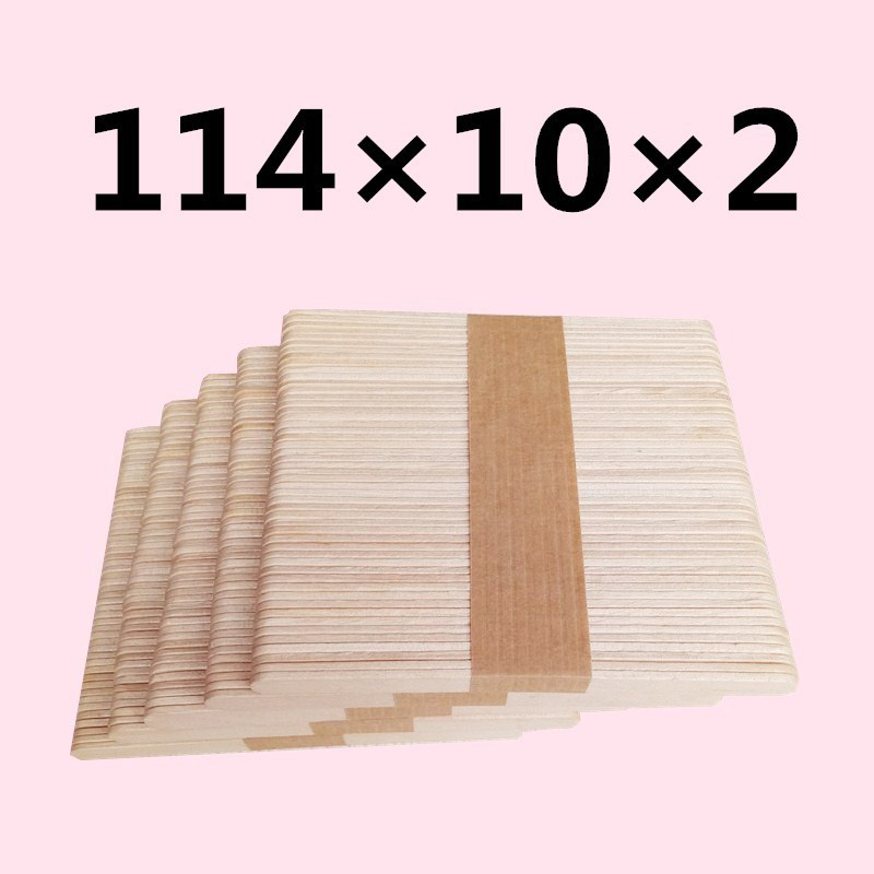 50/100pcs Disposable Tongue Depressors Wooden Hair Removal Tattoo Waxing Stick Tongue For Beauty Tools 114mm X 10mm X 2mm