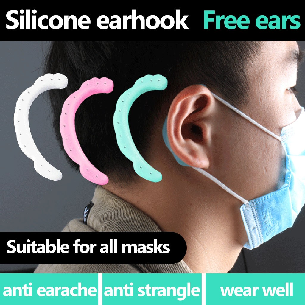 3 PairsMask Ear Grips High Quality Extension Hook Earmuffs Reusable Comfortable Mask Ear Hooks Compatible Hook Supplies Ap3