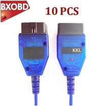 10 PÇS/LOTE CH340 Chip VAG KKL 409 Interface De Diagnóstico Cabo VAG com 409 VAG VAG 409.1 KKL Vag Ferramenta de Scanner de código de Vag-com 409Com