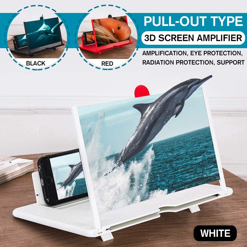 NEW 3D Screen Amplifier Mobile Phone Magnifying Glass HighDefinition Stand For Video Folding Screen Anti Slip Protection Holder
