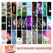 Digital Spray Emery Double Rocker Skateboard Sandpaper Skate Board Deck Sticker Sandpaper Scooter Griptape Longboard Abrasive