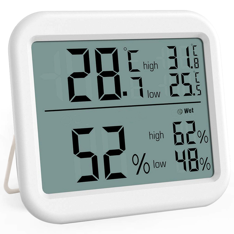 Indoor Thermometer, Digital Hygrometer With Big Screen And Icon Display, Humidity Gauge Indicator Room Thermometer, High Accurac