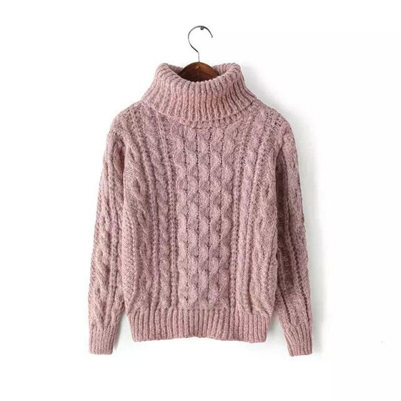 Women's Turtleneck Pullover 2020 Autumn Sweaters Women Casual Knitted O-Neck Striped Femme Women Sweaters