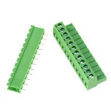 10 zestawów HT5 08 prosto 2 3 4 5 6 7 8 9 10 12 pinów złącze wtykowe typ 300V 10A 5 08mm pitch PCB złącze śrubowe blok zacisków tanie tanio VENSTPOW