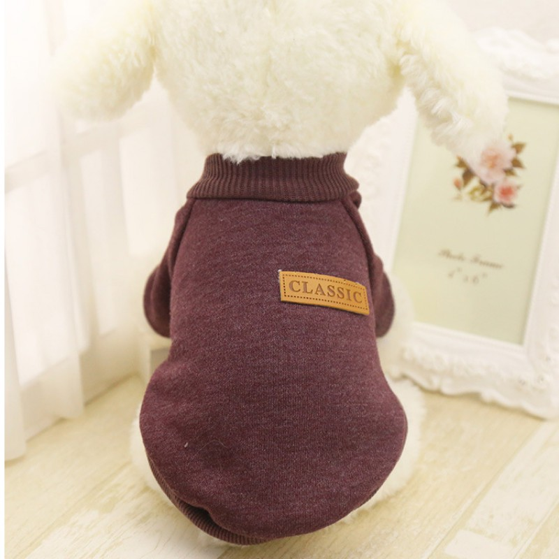 Одежда для собак, теплый свитер, мягкая куртка для чихуахуа, одежда для собак, одежда для щенков, куртка для собаки, зимняя одежда для маленьких собак - Цвет: Coffee