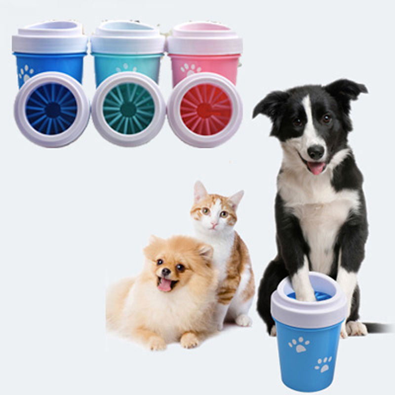 Dog Paw Cleaner Cup Soft Silicone For Dogs Foot Wash Tool Pet Feet Washer Portable Cat Dirty Paw Cleaning Wash Brush Cup