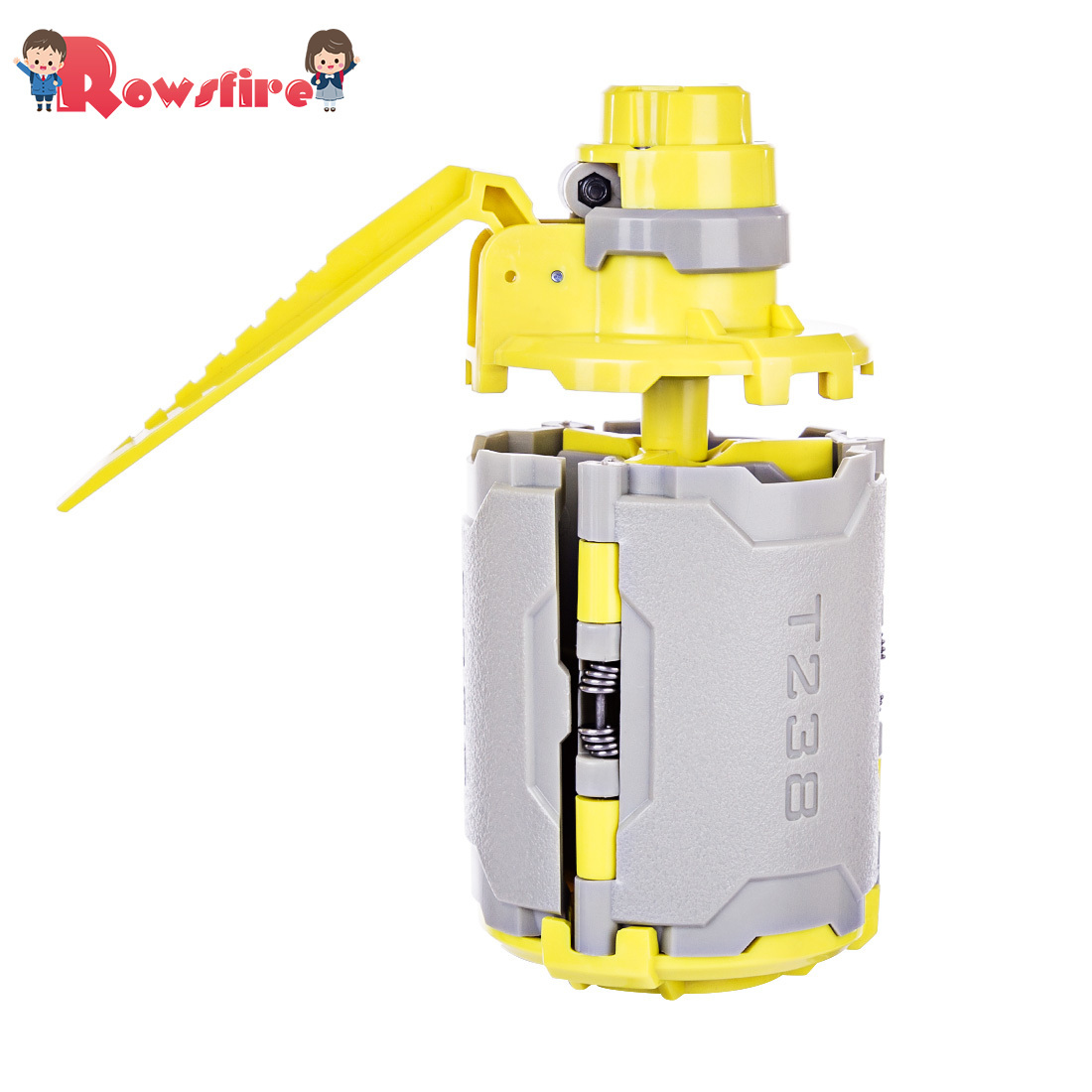 Rowsfire 1 Pcs <font><b>T238</b></font> <font><b>V2</b></font> Large Capacity Toy With Time-Delayed Function For Gel Ball BBs Airsoft Wargame - Grey + Yellow image