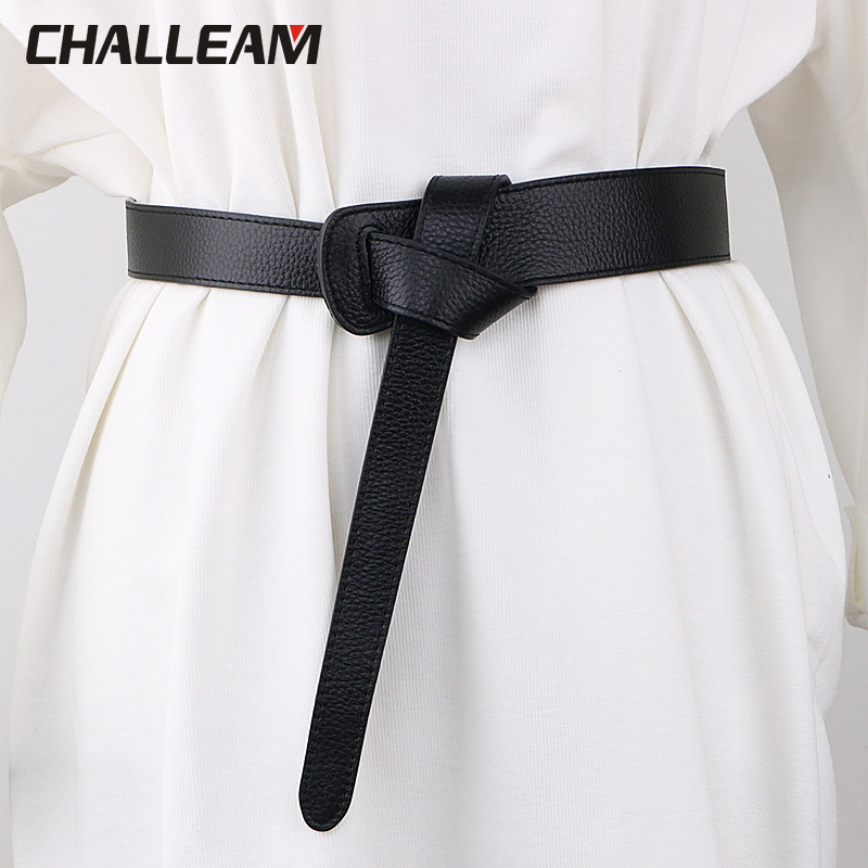 Women's Belt Bow Design Thin PU Leather Jeans Belt, Bow Coat, Accessories Dress Coat Accessories X217
