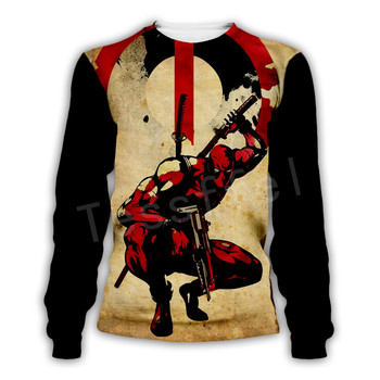 Tessffel Hot movie Deadpool Marvel Harajuku Casual Colorful Tracksuit Hiphop New Fashion 3DPrint Unisex Sweatshirts Men Women s2 2