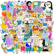 100 قطعة الكرتون مغامرة الوقت ملصقات فتاة مقاوم للماء سكيت حقيبة الغيتار الكتابة على الجدران ملصق يدوي الصنع الأطفال الكلاسيكية لعبة